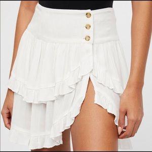 NWOT Free People   Costello Ruffle Skirt XS